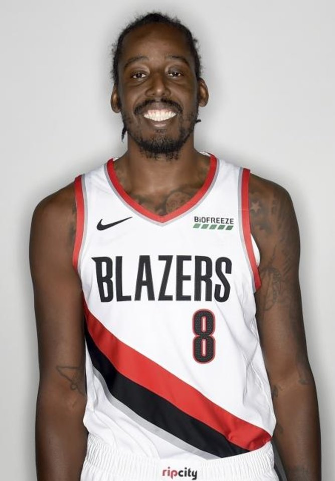 Photo -  Al-Farouq Aminu of the Portland Trail Blazers poses for a photo during media day in Portland, Ore., Monday, Sept. 24, 2017. (AP Photo/Steve Dykes)