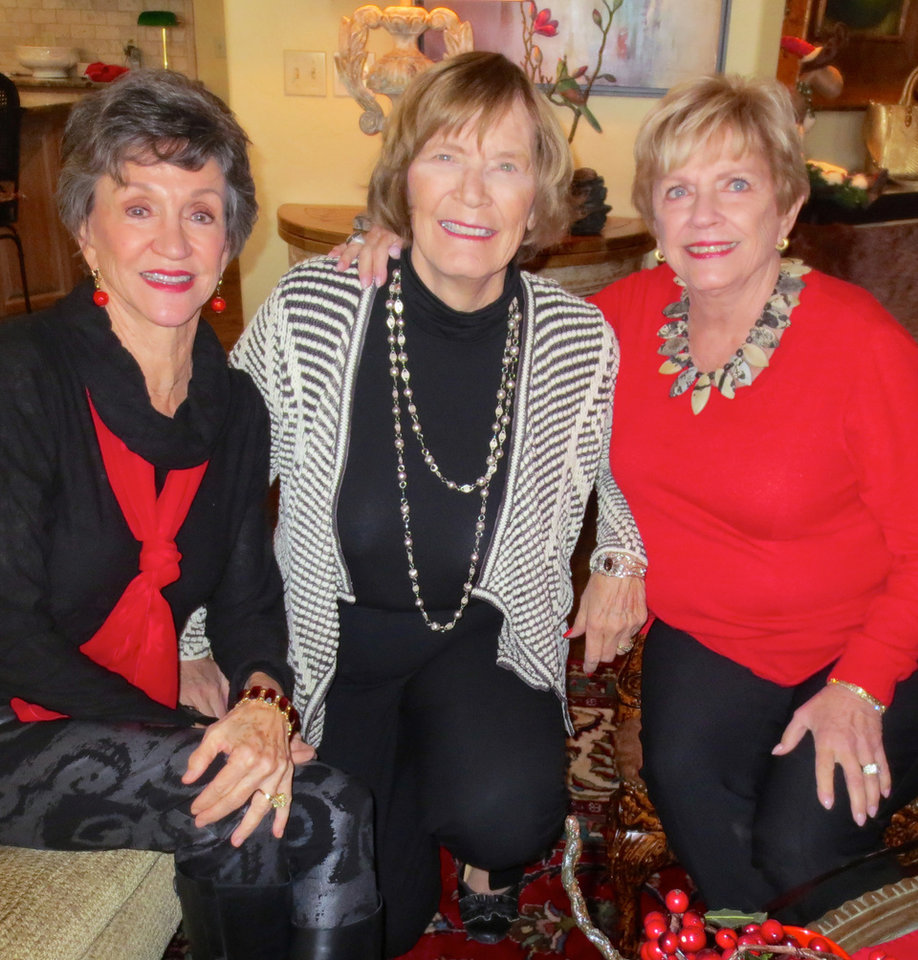 Photo - Gennie Johnson, Carolyn Hall, Karen Ingram. PHOTO BY HELEN FORD WALLACE, THE OKLAHOMAN