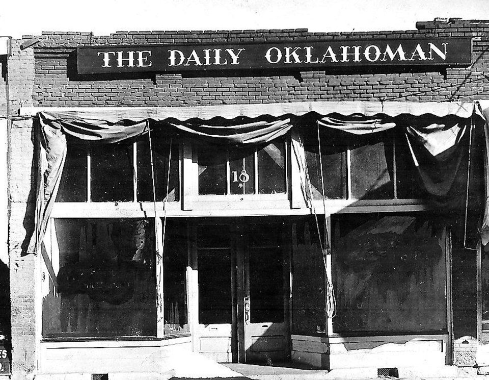 Photo -  The office of The Oklahoman was at 18 S Broadway when E.K. Gaylord entered the business.