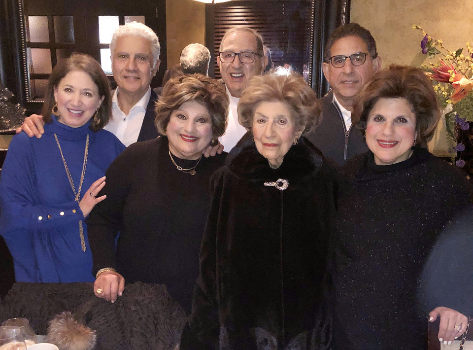 Photo - Vicki Shadid, Cindy Homsey, Catherine Shadid, Stephanie Shanbour, front; and Frank Shadid, Dick Homsey, Greg Shanbour. PHOTO PROVIDED