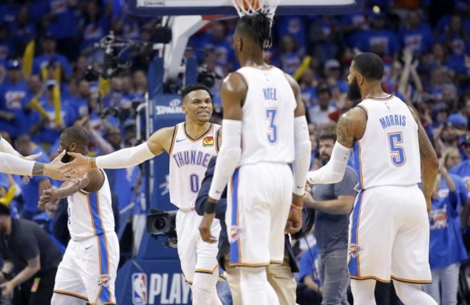 Photo -  With the Oklahoma City Thunder over the salary cap, internal improvement will be a priority for next season. [Sarah Phipps/The Oklahoman]