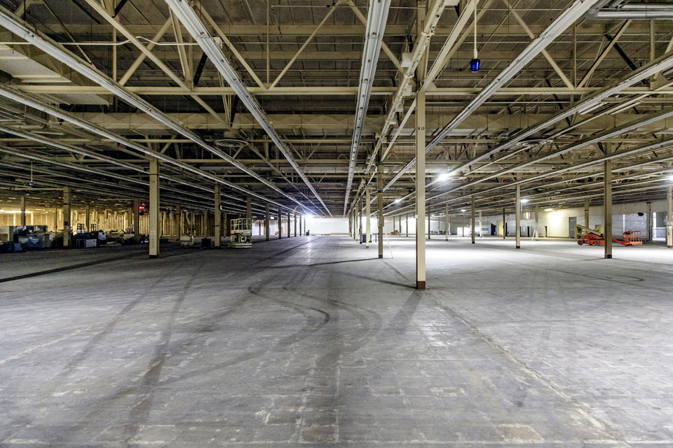 Photo -  Some space inside OKCWorks will be transformed into amenities for the employees of businesses located within the campus. [Photo by Chris Landsberger, The Oklahoman]