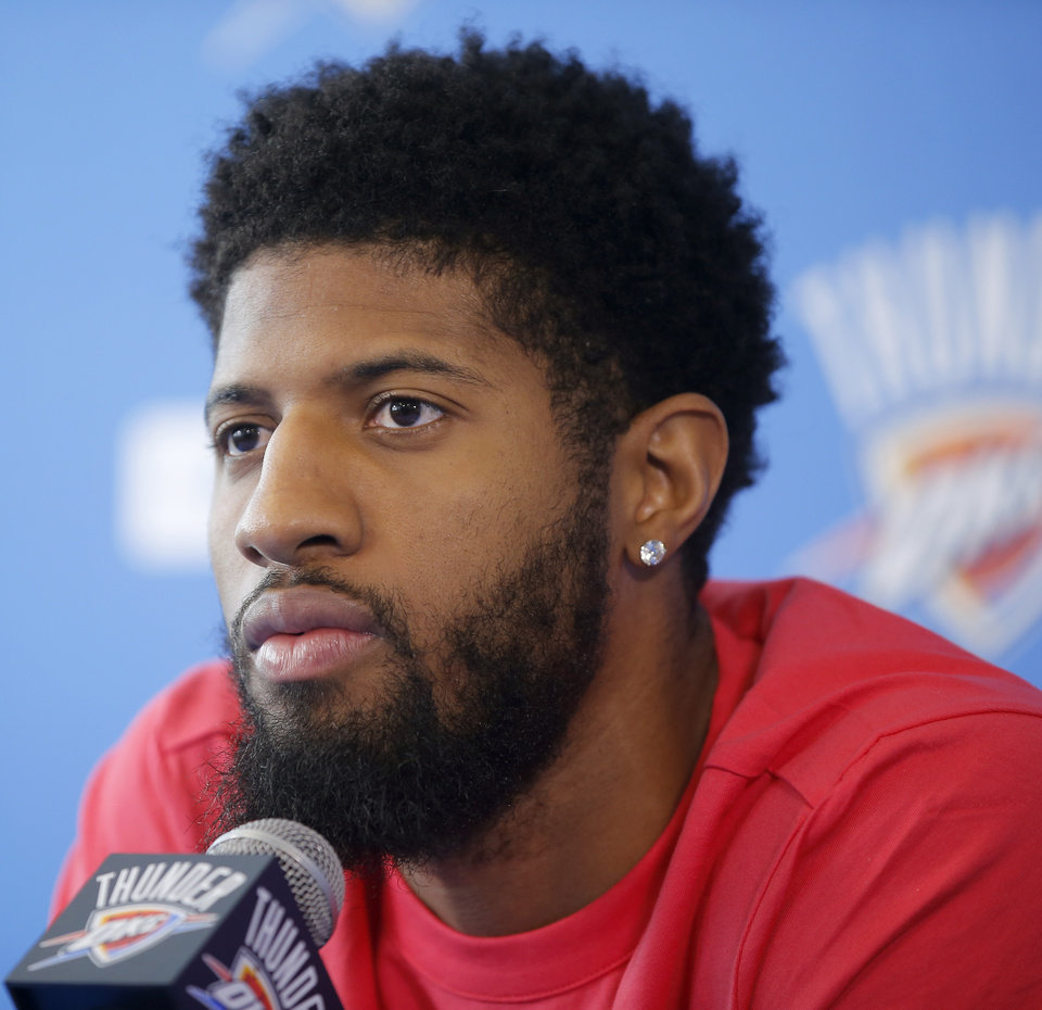 Photo -  Paul George capped off a three-part ESPN series about his offseason by saying he's