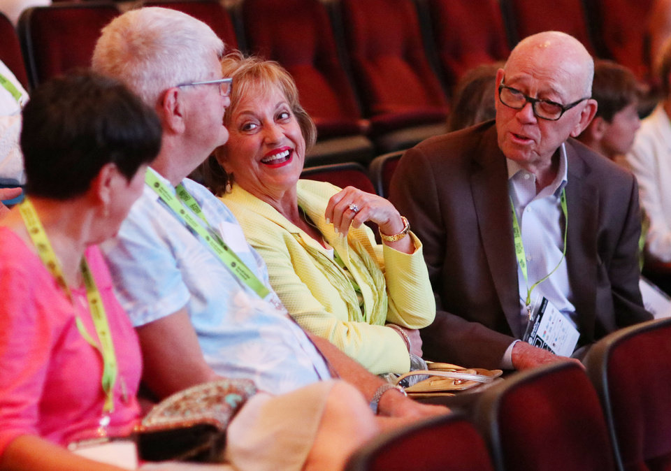 Photo - Lance McDaniel's parents, Brenda and Tom McDaniel, during opening night for deadCenter at the Oklahoma City Museum of Art, Thursday, June 6, 2019. [Doug Hoke/The Oklahoman]