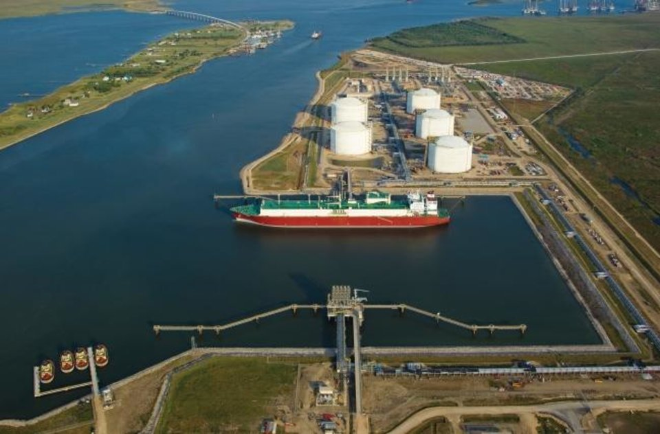 Photo -  The Golden Pass Terminal in Sabine Pass, Texas. Golden Pass Products is building a $10 billion export terminal for LNG at the facility, which originally was built to import the product. Oklahoma City's Enable Midstream Partners is building a line that will carry gas to the facility. [THE OKLAHOMAN ARCHIVES]