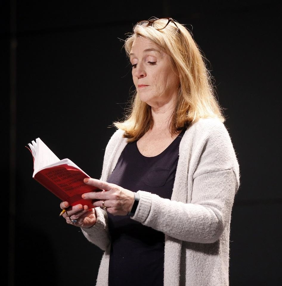 Photo - Lisa Fairchild portrays Siobhan during rehearsals for CityRep's production of the Tony-winning play