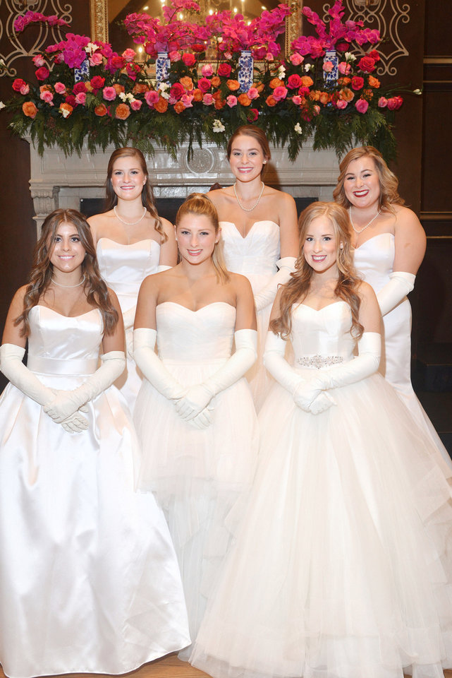 Photo -  In front: Jordan Marie Richardson, Ellen Meyer Payne, Mia Cristina Miles-Dunn. In back: Claire Virginia Hendee, Audrey Ruth Harrah, Jessica Ashley Greene. [PHOTO BY DAVID FAYTINGER, FOR THE OKLAHOMAN]