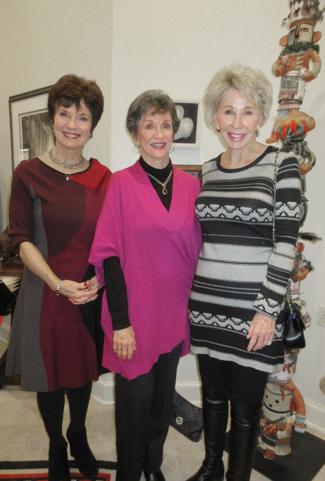 Photo - Janie Axton, Gennie Johnson, Ann Felton Gilliland. PHOTO BY HELEN FORD WALLACE, THE OKLAHOMAN
