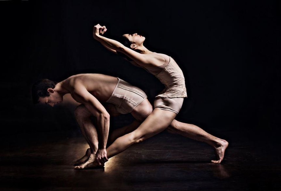 Photo - Oklahoma City Ballet Principal Dancers Miki Kawamura and Alvin Tovstogray appear in a publicity image for