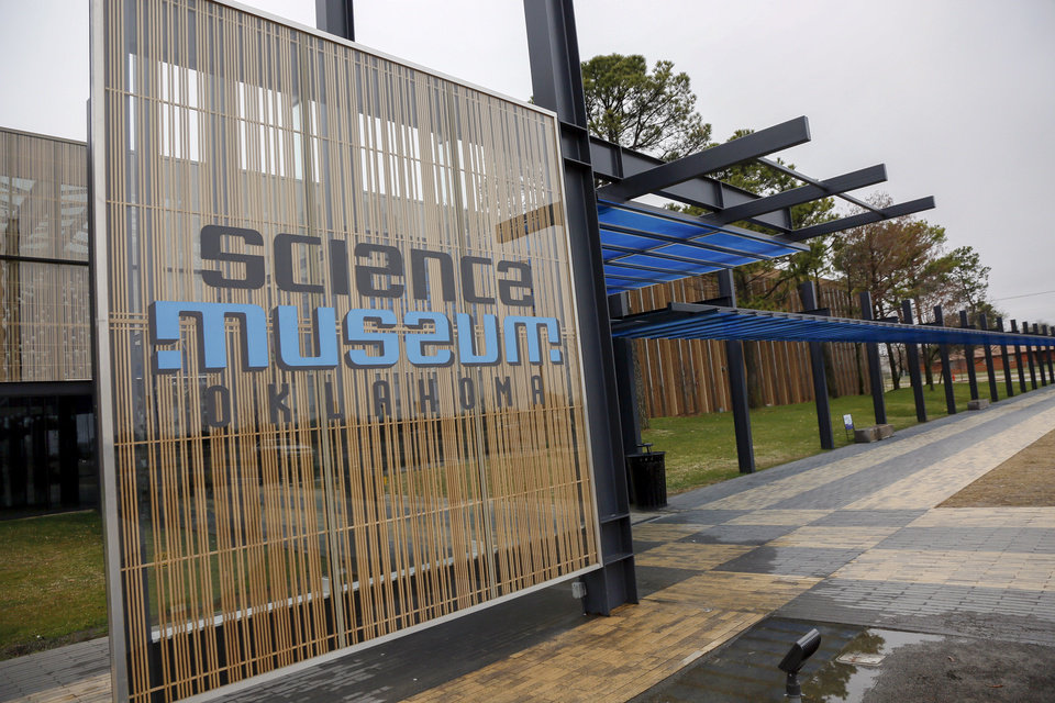 Photo - An exterior of Science Museum Oklahoma in Oklahoma City, Monday, March 16, 2020. The museum is temporarily closed because of the coronavirus pandemic and tentatively plans to reopen on April 1. [Nate Billings/The Oklahoman]