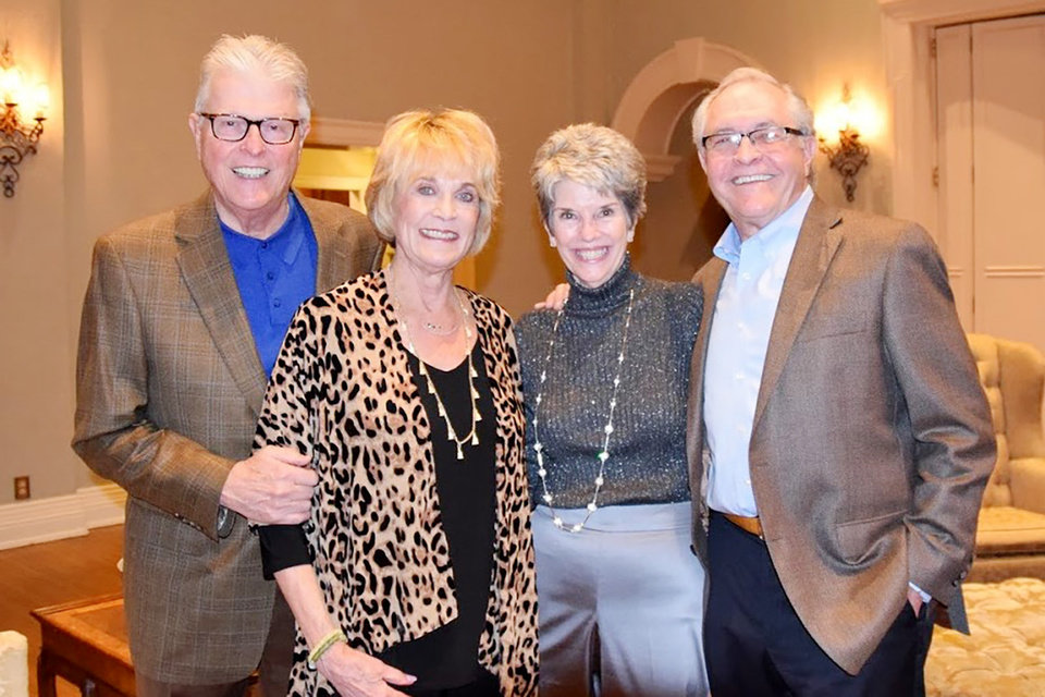 Photo - Dr. Jay and Susan Johnston, Kathy and Tim Payne. PHOTO PROVIDED