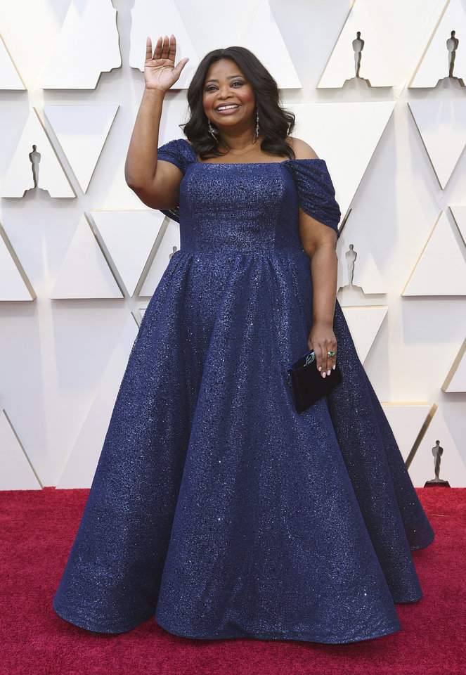 Photo -  Octavia Spencer arrives at the Oscars on Sunday, Feb. 24, 2019, at the Dolby Theatre in Los Angeles. (Photo by Richard Shotwell/Invision/AP)