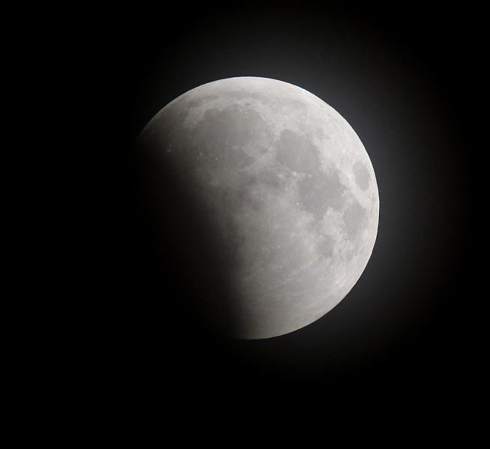 Photo -  Lunar eclipse Tuesday, Dec. 21, 2010. Photo by Doug Hoke, The Oklahoman.