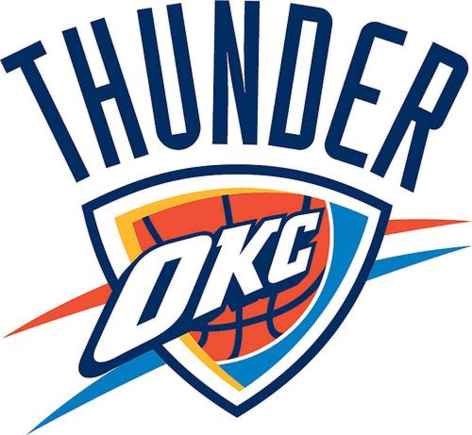 Photo - OKLAHOMA CITY THUNDER / NBA BASKETBALL TEAM / LOGO / GRAPHIC      ORG XMIT: 1110051855554856
