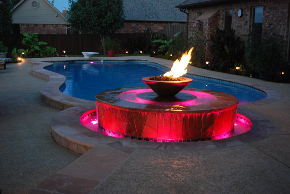 Oklahoma city pool company wins pair of awards for top - Pool fire bowls ...