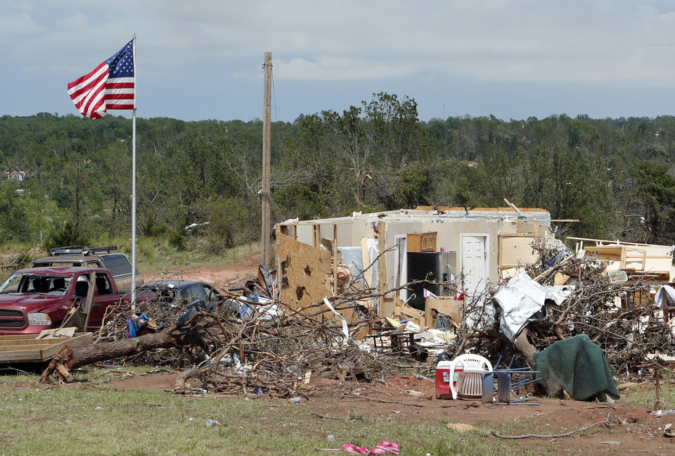 Photo - Damage from Sunday's tornado in the Woodlands and Pecan Valley area is shown on Thursday, May 23, 2013 in Little Axe, Okla.  Photo by Steve Sisney, The Oklahoman