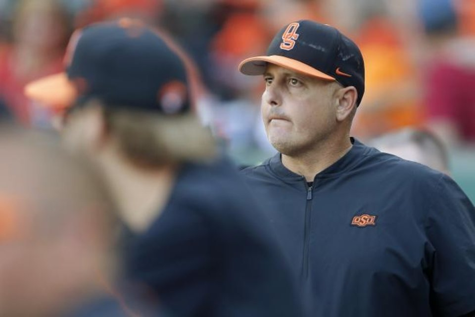 Photo -  Oklahoma State coach Josh Holliday isn't surprised that his former roommate, Tampa Bay Rays manager Kevin Cash, has his team in the World Series. [Bryan Terry/The Oklahoman]
