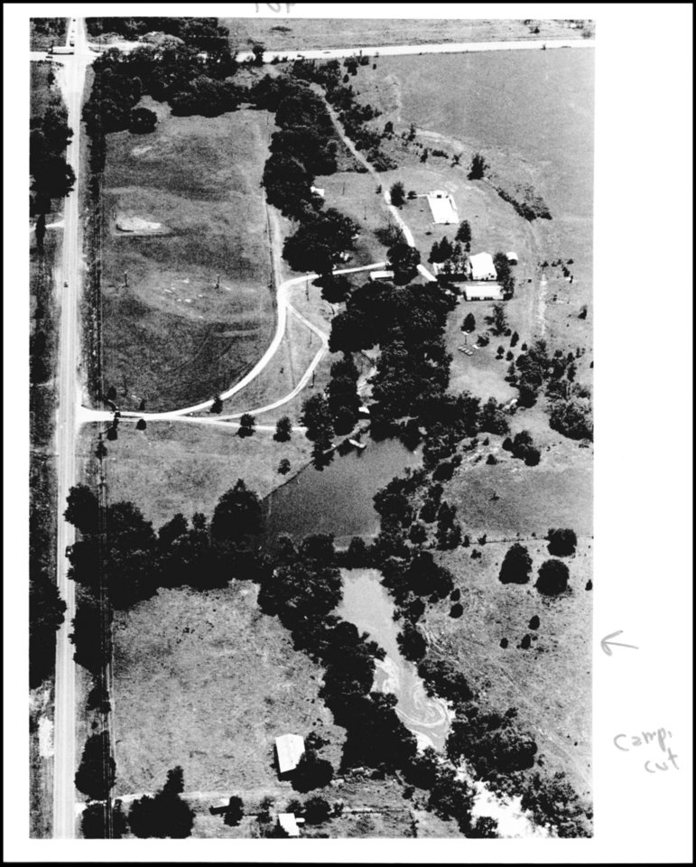 Photo - This aerial photo was taken looking southward with Memorial at the top of the picture and N. Eastern on the left.