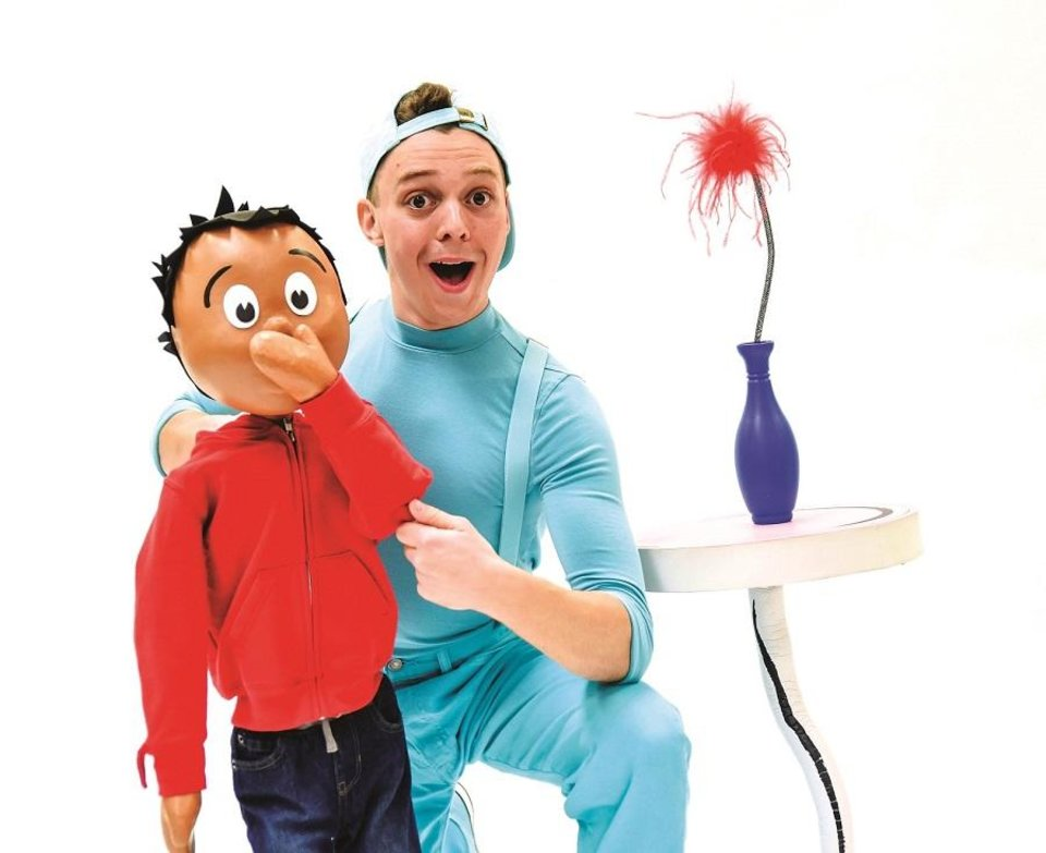 Photo - Eli Bradley plays The Boy, a puppet character, in Lyric Theatre's production of Dr. Seuss'