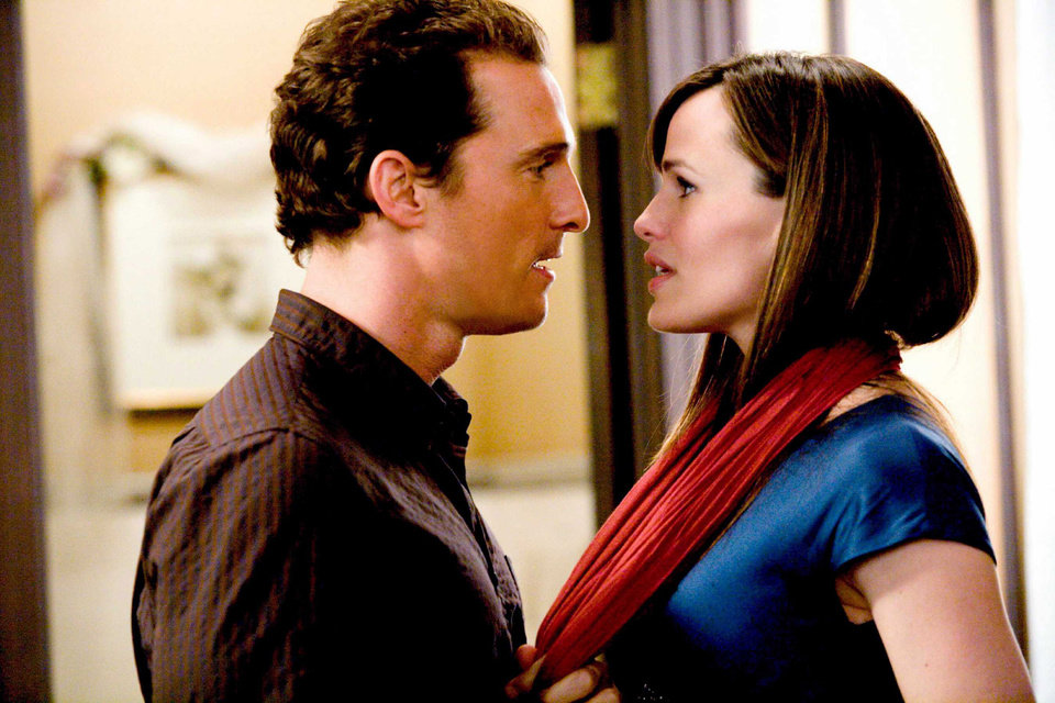 "Photo - MOVIE / FILM:  Matthew McConaughey as Connor Mead and Jennifer Garner as Jenny Perotti in the romantic comedy ""Ghosts of Girlfriends Past."" NEW LINE CINEMA PHOTO ORG XMIT: 0904301621190035"