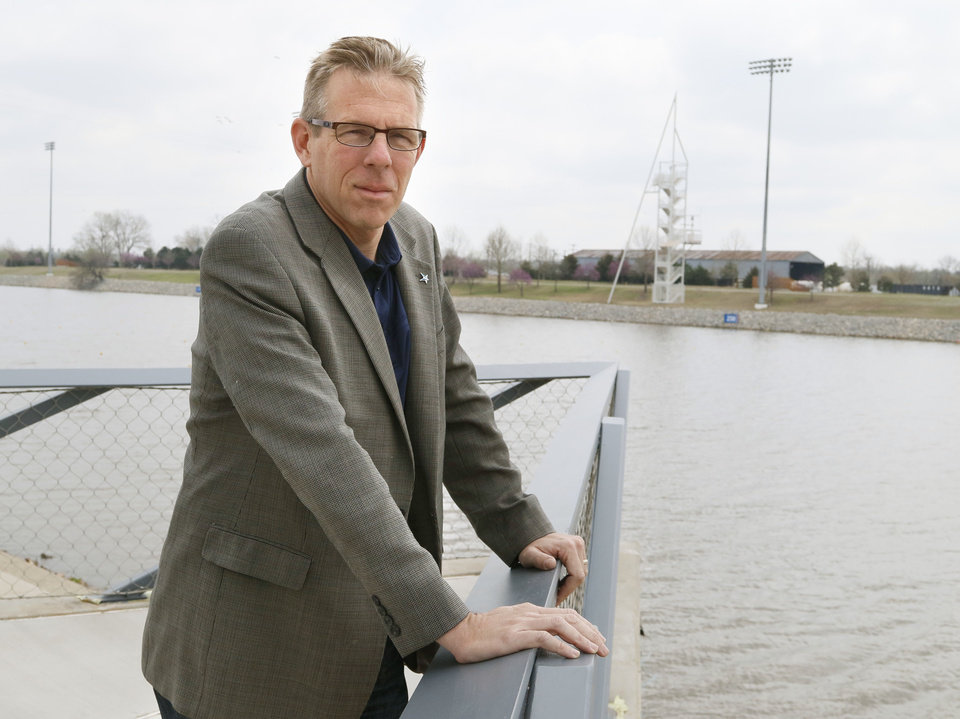 Photo -  Mike Knopp, director of the Boathouse Foundation, has helped guide development along the Oklahoma River for the past 20 years. [The Oklahoman Archives]