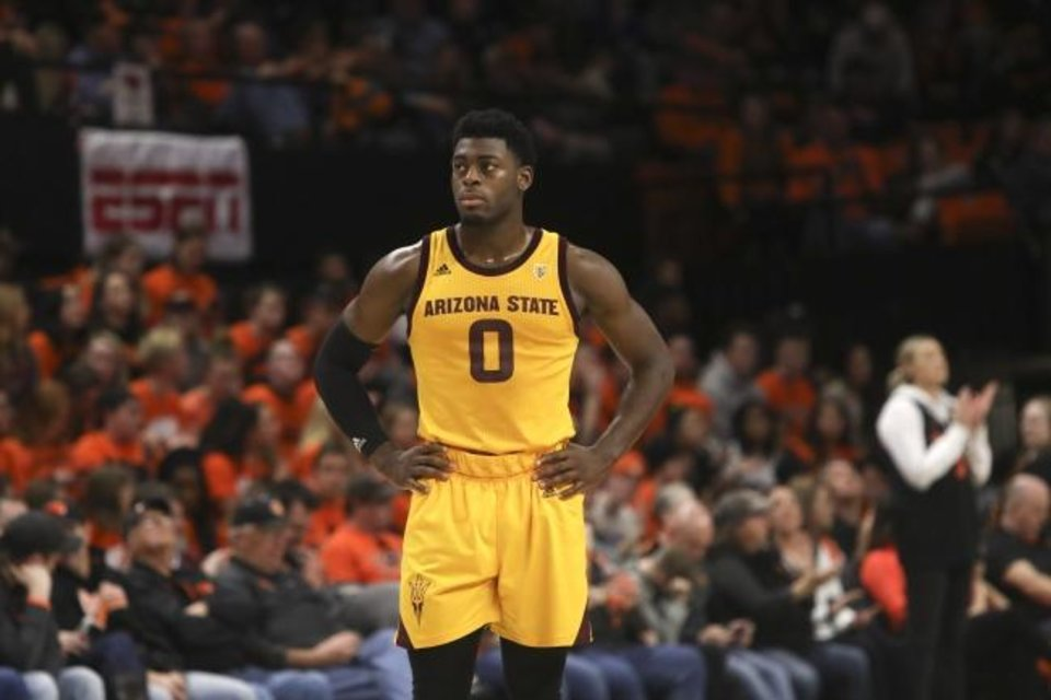 Photo -  Luguentz Dort joins the Thunder after a season at Arizona State, where he was the Pac-12 Rookie of the Year. [AP Photo/Amanda Loman]