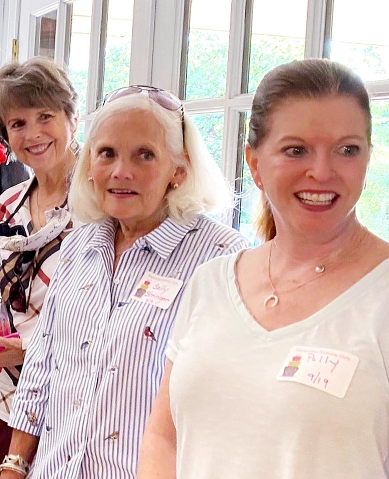 Photo - Pam Troup, Sally Stringer, Polly Fleet at September birthday event. PHOTO PROVIDED