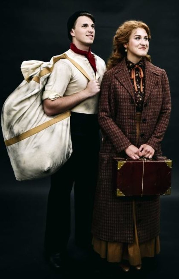 Photo -  Ian Marcontell plays Frederick Barrett and Jessica Anne Martens as Kate Murphy in Lyric Theatre's