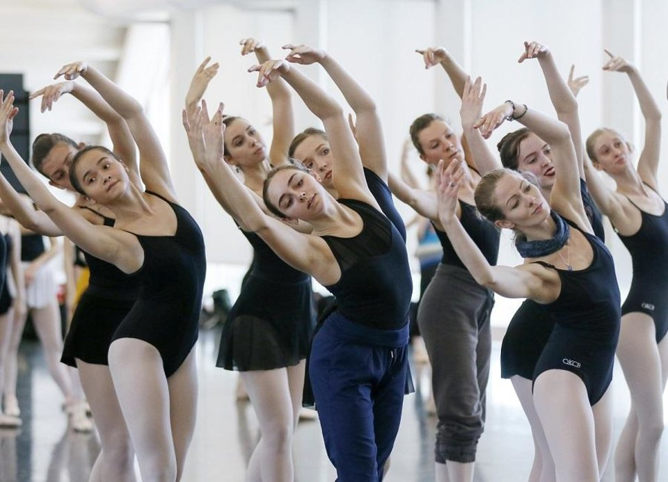 Photo - Oklahoma City Ballet dancers rehearse for