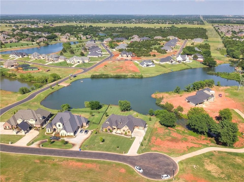 Photo -  Here is an aerial view of the house at 21484 S Sawtooth Circle, Edmond. [PHOTO PROVIDED]