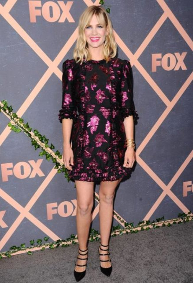 Photo -  Actress January Jones wears a pair of Marion Parke shoes. [photo provided]