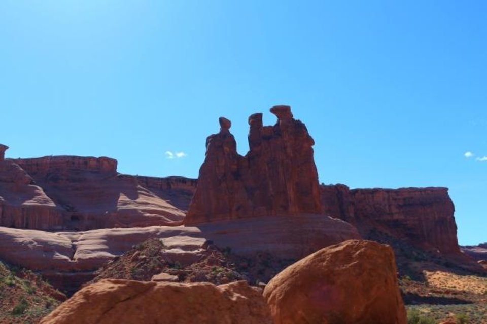 Photo -  Three gossips in Arches National Park, Utah. [Photo Provided]