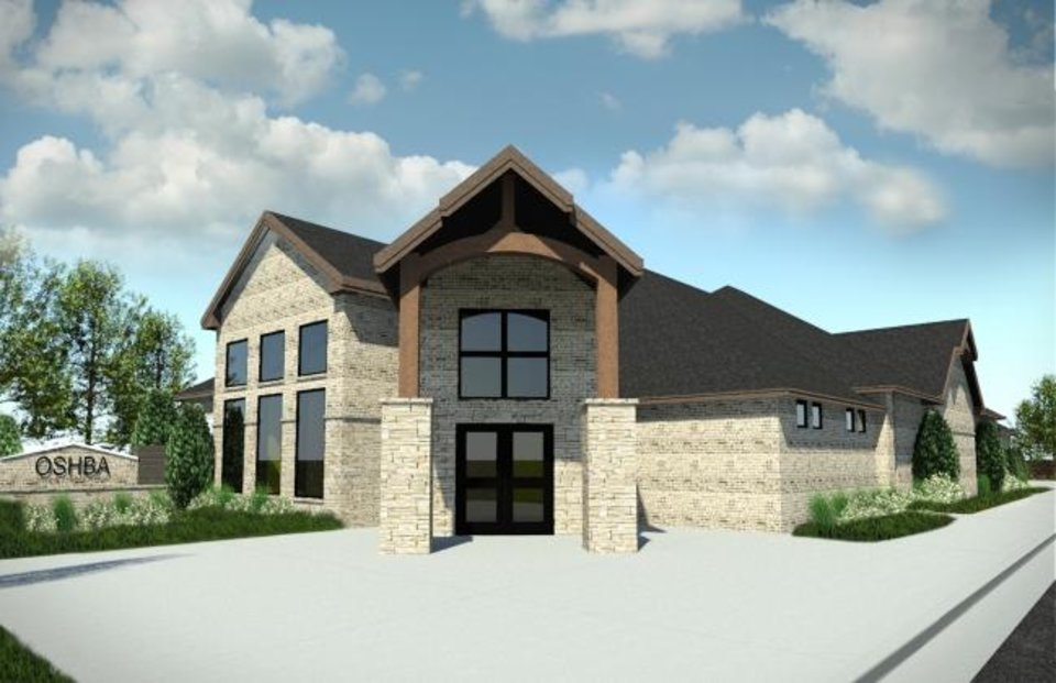 Photo -  An artist's rendering of the Oklahoma Home Builders Association's new headquarters to be built at 3520 N Lincoln Blvd. [PROVIDED]