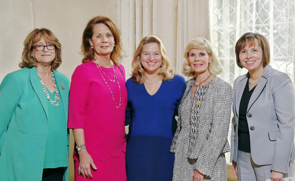 Photo - Susan Regier, Juli Johnston, Dr. Stofan, Myrla Pierson and Christy Ritchie. PHOTO BY JIM BECKEL, THE OKLAHOMAN