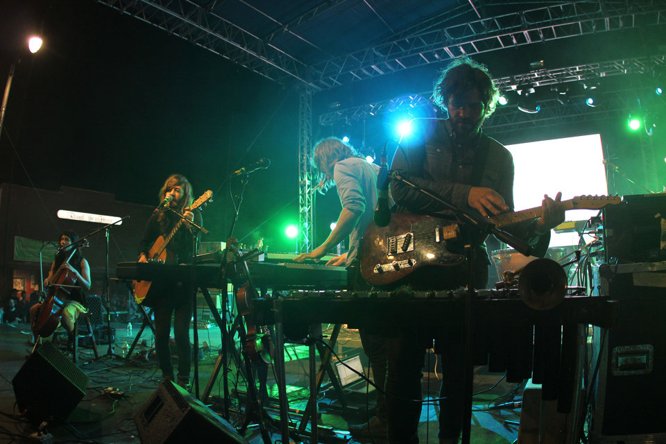 Photo -  Other Lives performs on the main stage at NMF5. [Photo by Nathan Poppe, The Oklahoman Archives]