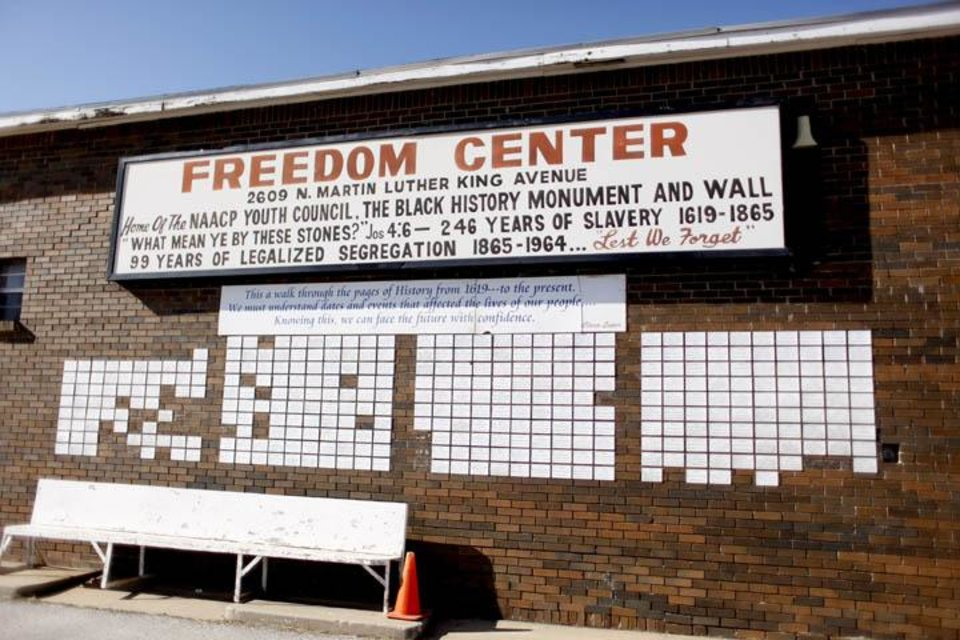 Photo -  The Freedom Center is pictured on Martin Luther King Avenue in Oklahoma City, Okla., Sunday, Jan. 10, 2009. Photo by Sarah Phipps, The Oklahoman