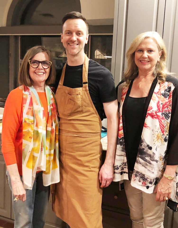 Photo - Elaine Levy, Chef Joseph Royer, Karen Delaney. PHOTO PROVIDED