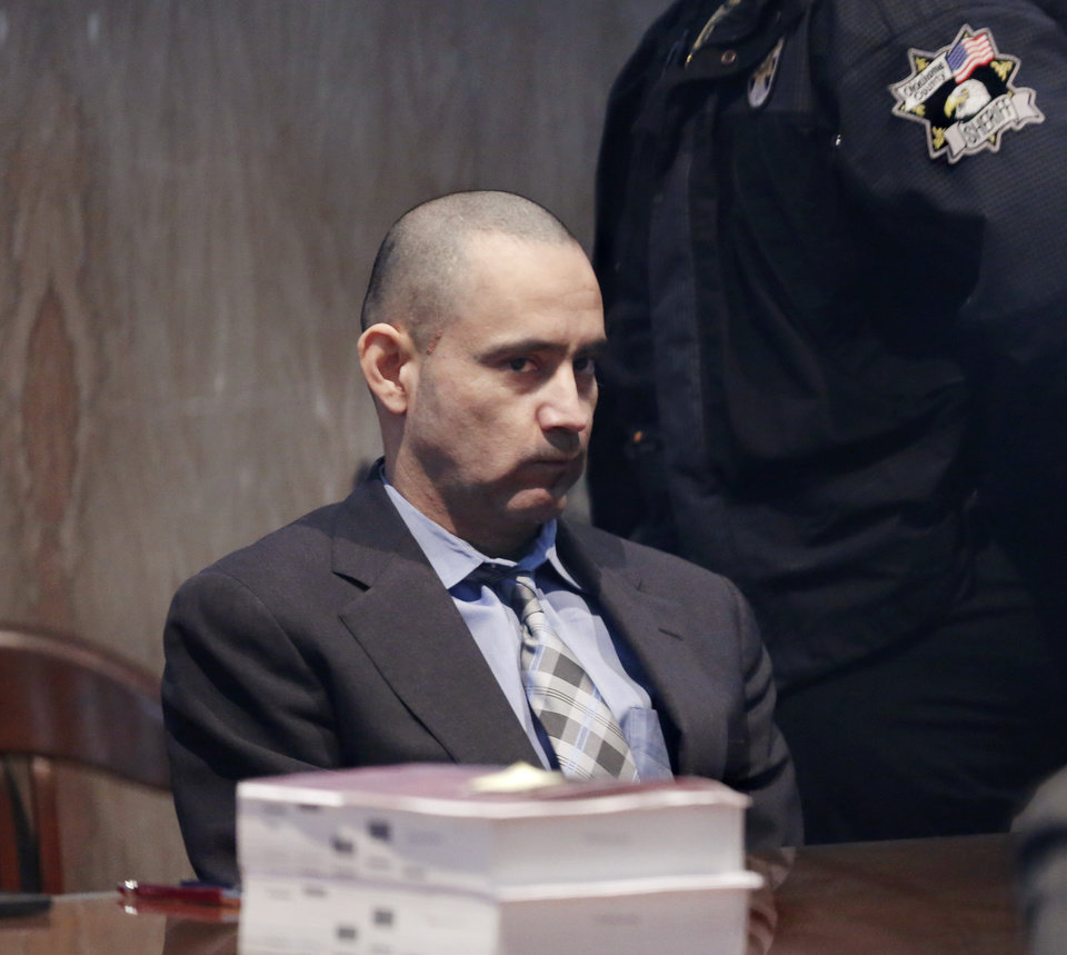 Photo -  Adrian Escajeda, 36, was found guilty Thursday of first-degree murder in the death of Ulises Lopez, his girlfriend's half-brother. [Photo by Jim Beckel, The Oklahoman]