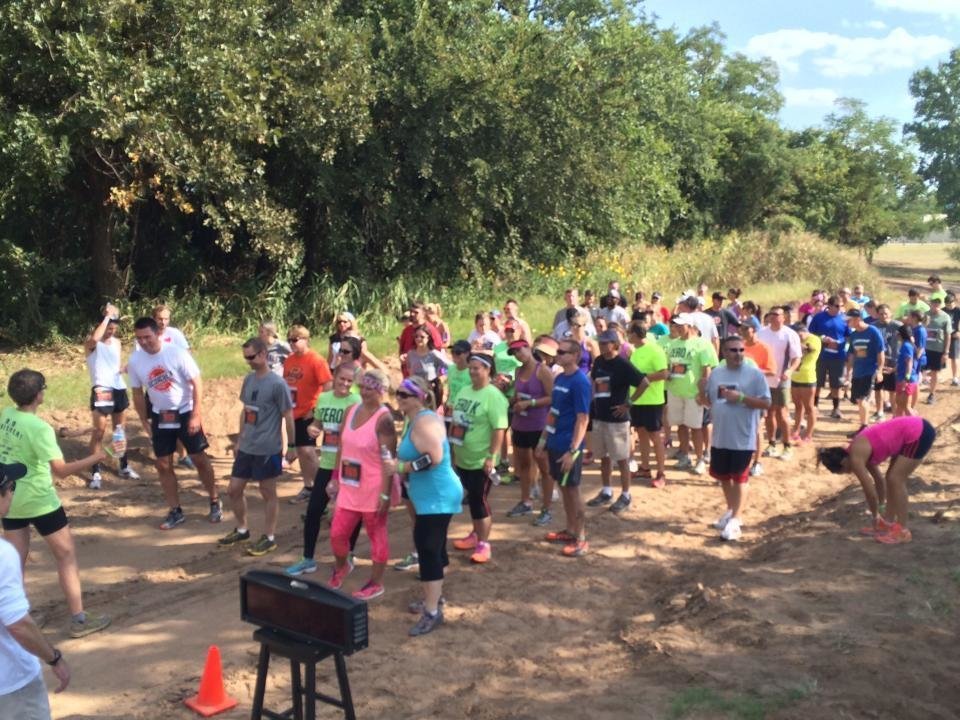 Photo -  Participants at last year's ZeroK OKC run and walk the optional 5k. This year's City Care fundraiser will be Oct. 17. [Photo provided]