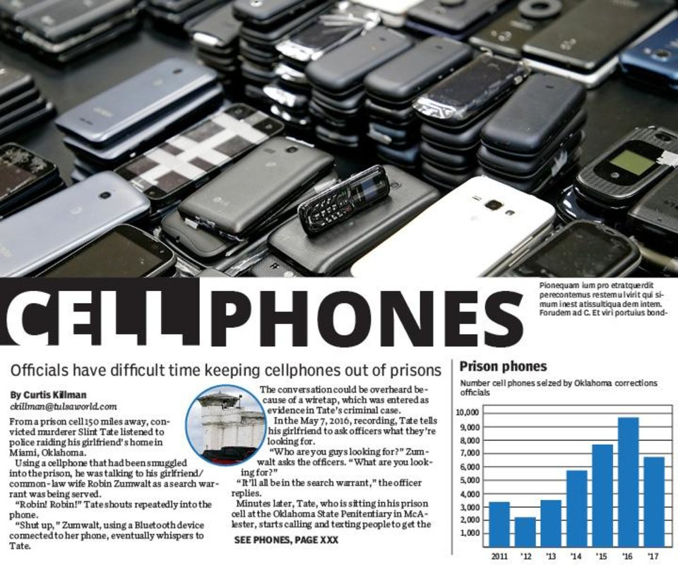 Oklahoma officials have difficult time keeping cellphones out of