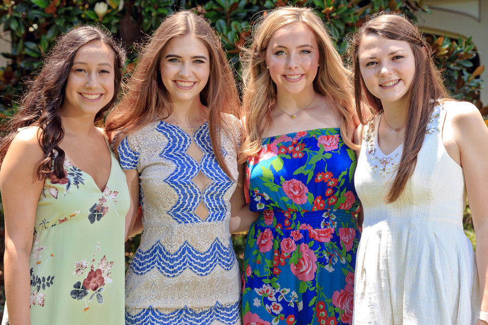 Photo - Allison Farhood, Ellie Dunn, Gracie Pitman, Emma Richmond. PHOTO BY CHRIS LANDSBERGER, THE OKLAHOMAN