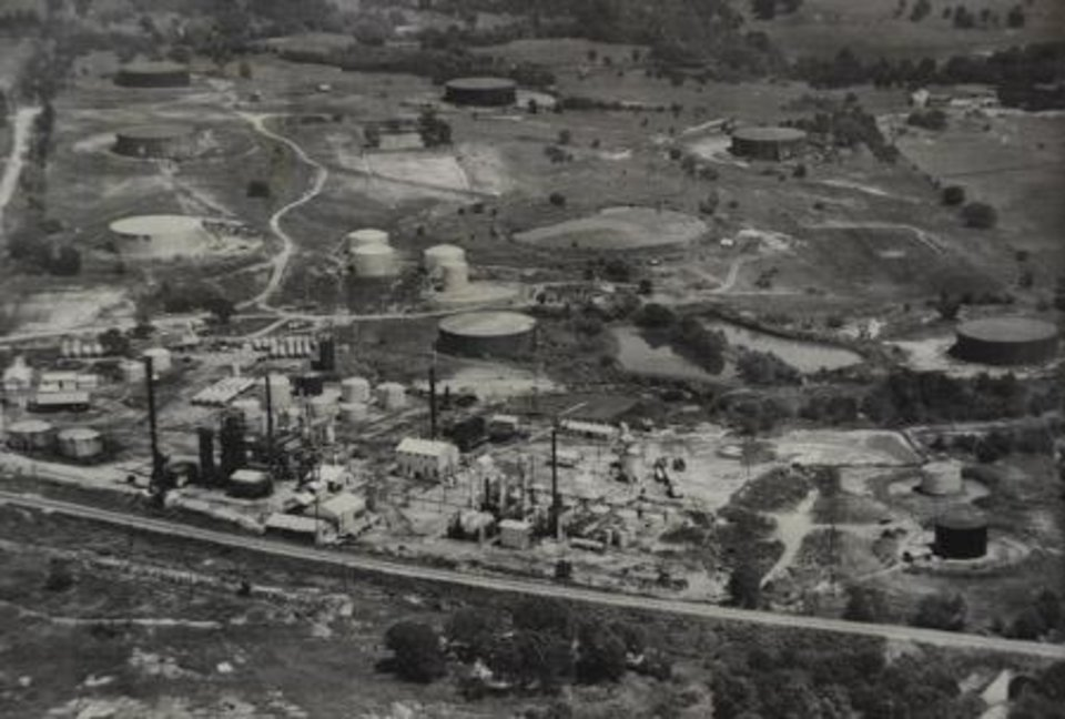 Photo -  The Wilcox Oil Company Superfund site in Bristow is seen in this undated photo from the Oklahoma Department of Environmental Quality's archives. [PHOTO PROVIDED]
