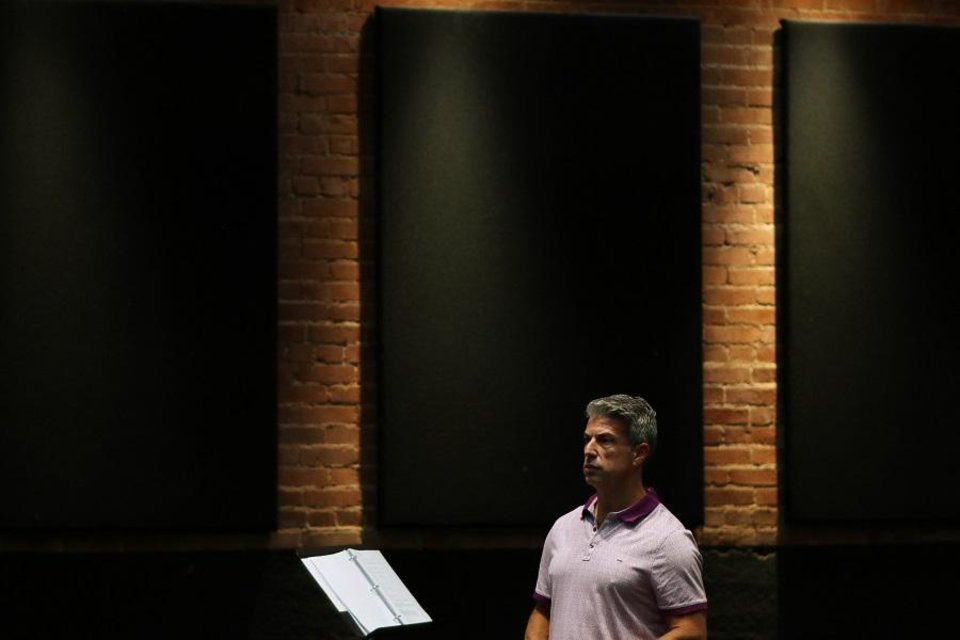 Photo - Lyric Producing Artistic Director Michael Baron watches during a rehearsal of Lyric Theatre's world-premiere production of
