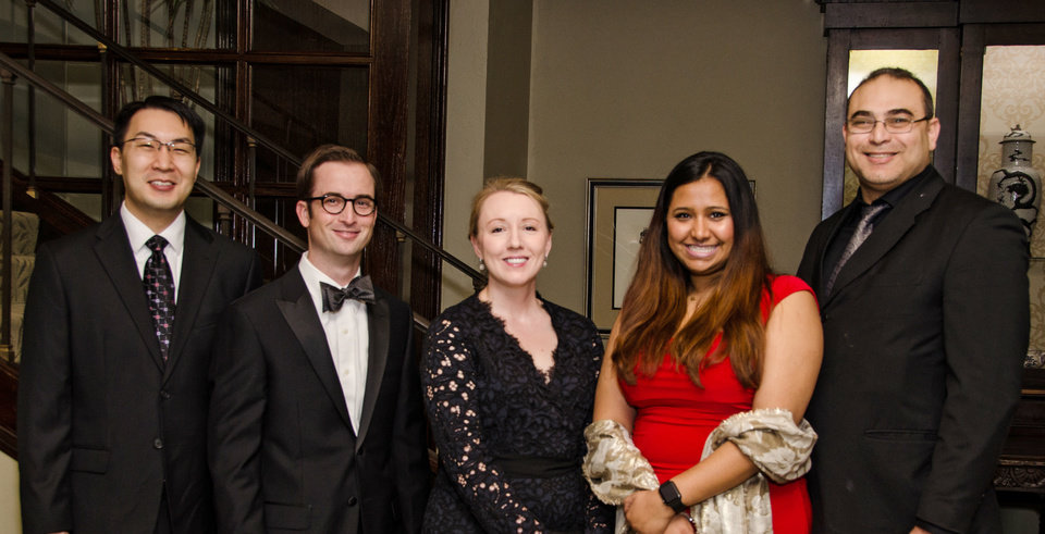 Photo - Dr. Eric Yee, Dr. Ryan Wicks, Dr. Felicia Allard, Dr. Pooja Singhal and Dr. Amgad Haleem. PHOTO BY JOHN DOUGLAS