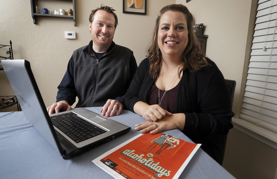 Photo -  Husband-and-wife writing team Ted Satterfield and Melanie Wilderman, who wrote the irreverent holiday play