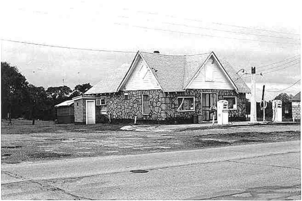 Photo -  Historic Threatt Filling Station, Luther, as it was, date unknown. [PHOTOS PROVIDED BY OKLAHOMA HISTORICAL SOCIETY/STATE HISTORIC PRESERVATION OFFICE]