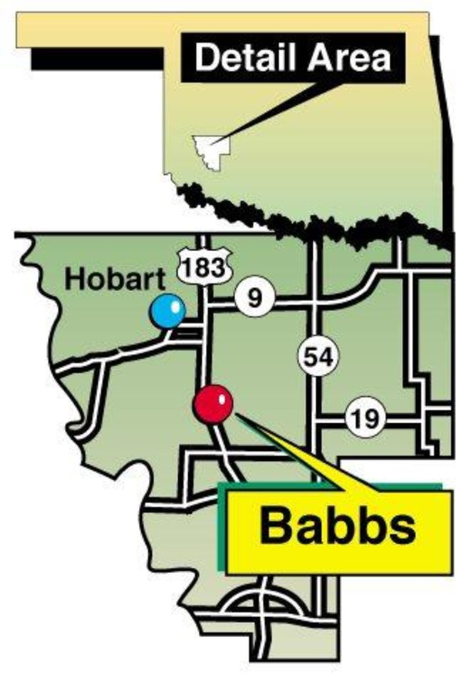 Photo - Babbs Switch schoolhouse fire map