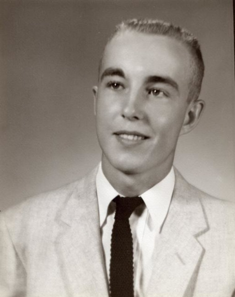 Photo -  Gerald Jaquith's senior picture, Waynoka High School, 1959. Jaquith went on to have a career as a mathematics teacher. When he died in 2019, he left his estate valued at more than  million to the Oklahoma Medical Research Foundation. [Photo provided]