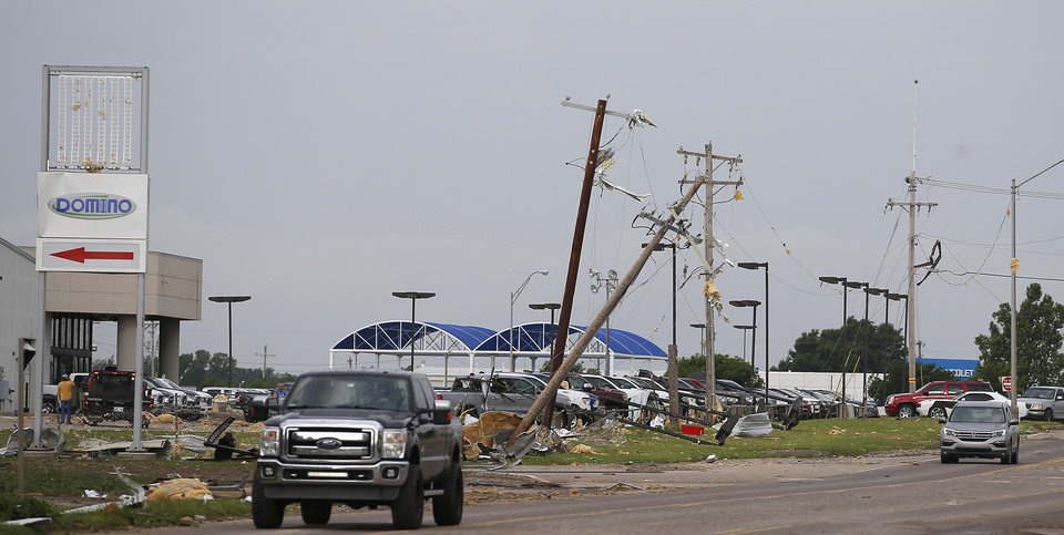 Photo - Tornado damage along Highway 66 in El Reno, Okla., Sunday, May 26, 2019. [Bryan Terry/The Oklahoman]
