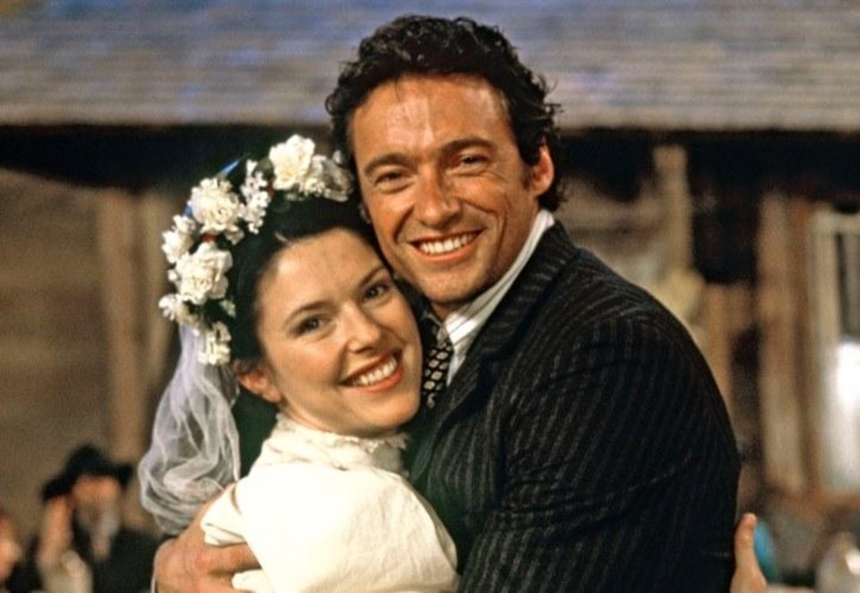 Photo - Josefina Gabrielle and Hugh Jackman appear in the 1998 London production of